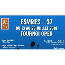 Tournoi OPEN du 13 au 29 Juillet à Esvres