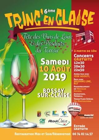 TRINC EN CLAISE : fête des Vins de la Loire  Samedi 10 Aout 2019