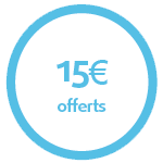 15 € offerts