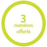 3 numéros offerts
