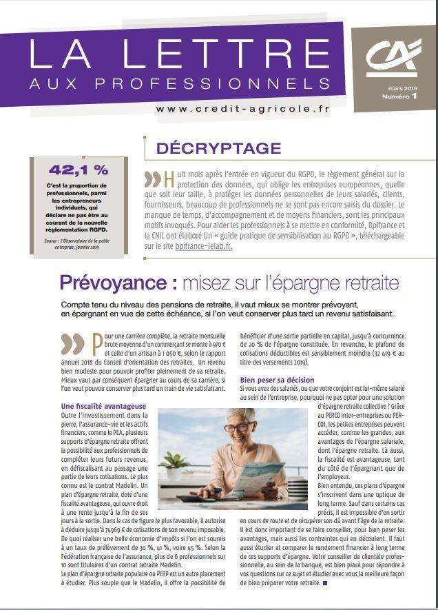 Credit Agricole Touraine Poitou La Lettre Aux Dirigeants D