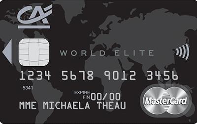 Carte World Elite.Credit Agricole Touraine Poitou Carte World Elite